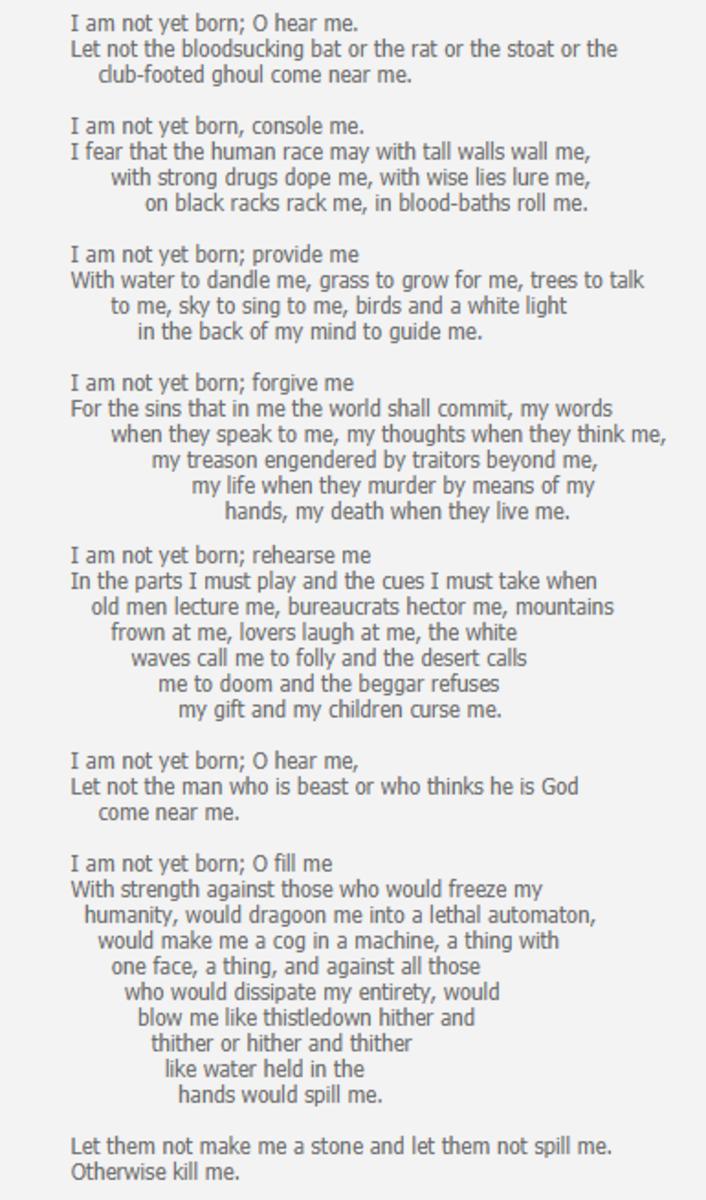 analysis-of-poem-prayer-before-birth-by-louis-macniece