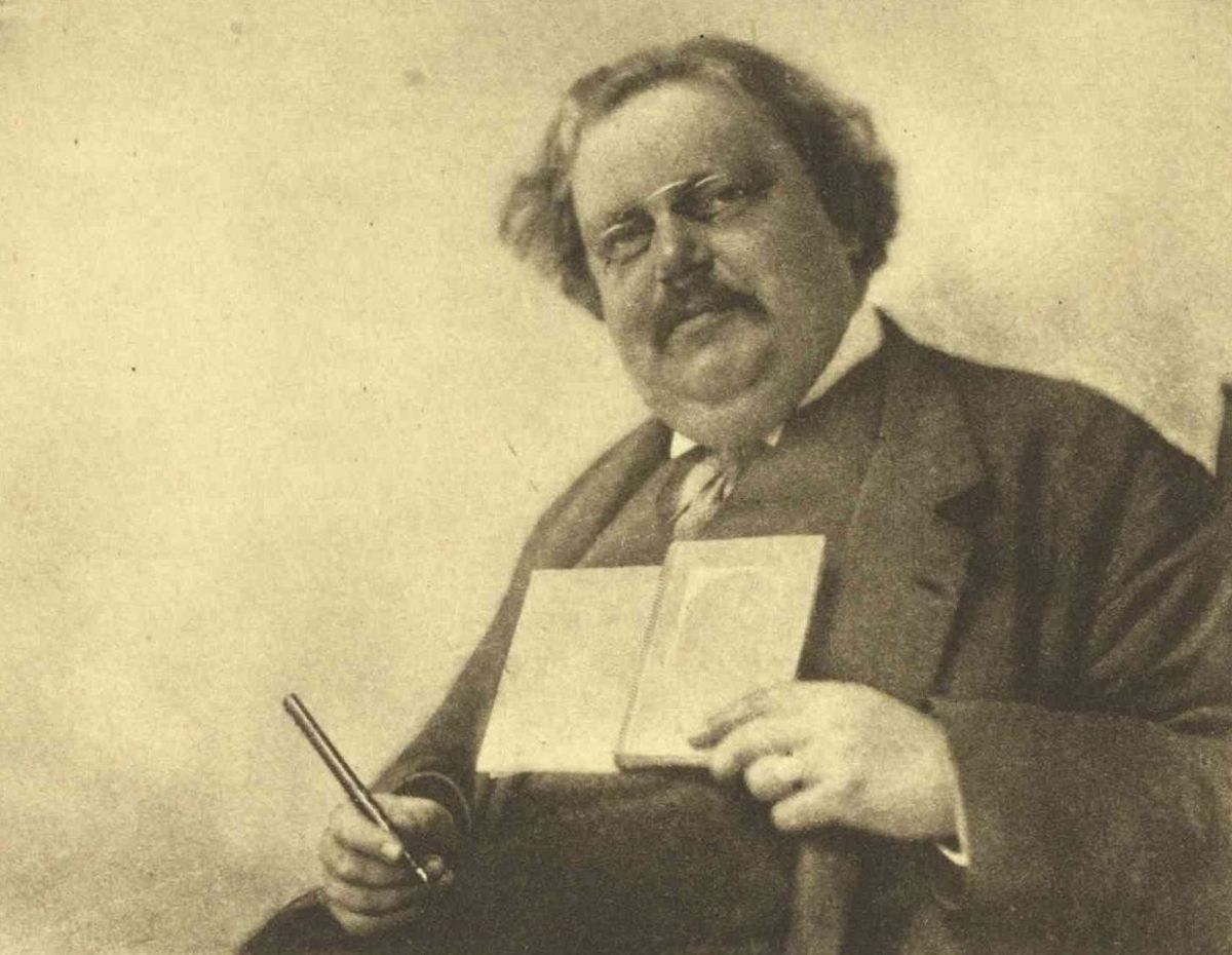 Gilbert Keith Chesterton in a literary pose.