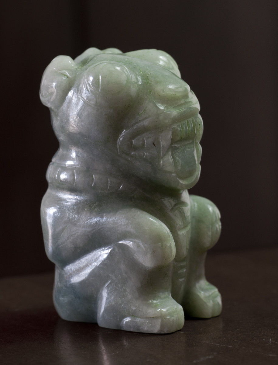 The B'alam, in semi-translucent jadeite