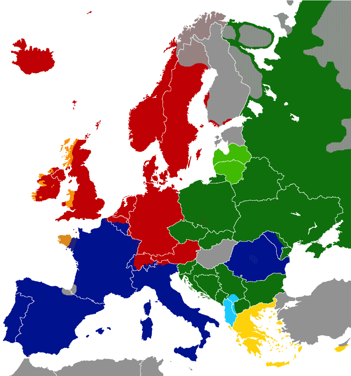 Although in international terms Europe is relatively linguistically poor, it still has a very large number of languages. This map actually underestimates it.