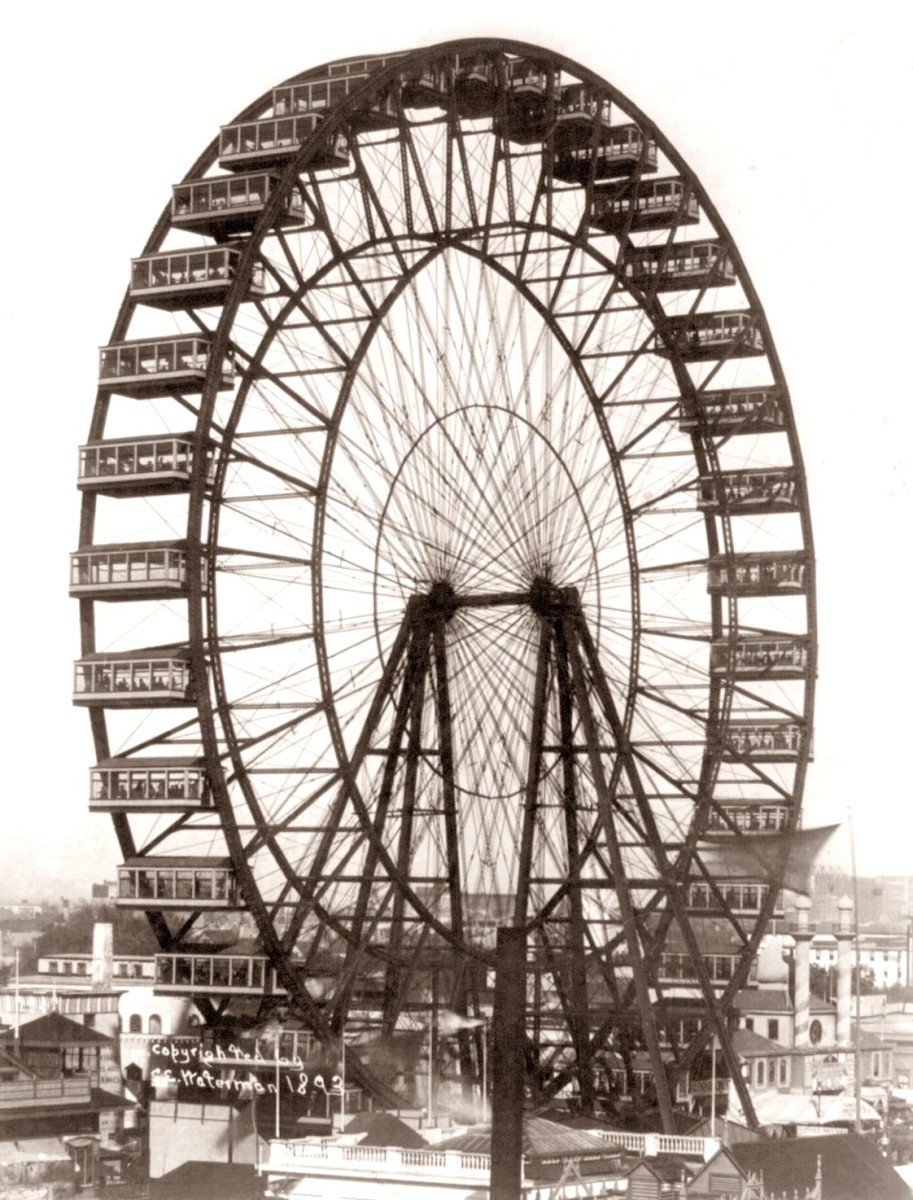 The First Ferris Wheel Comprised of Railroad Boxcars