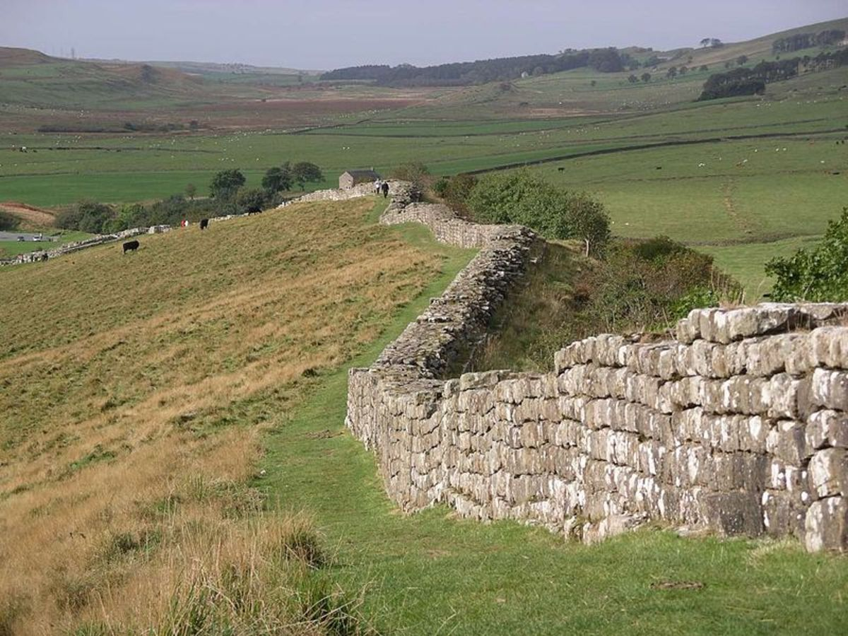 Hadrian's Wall at Cawsfields Quarry, Northumberland