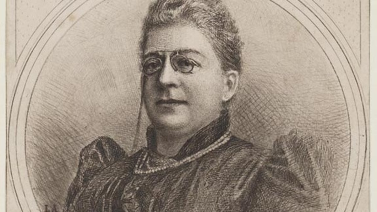 The Grand Dame of Flemish Literature, Virginie Loveling, in Old Age