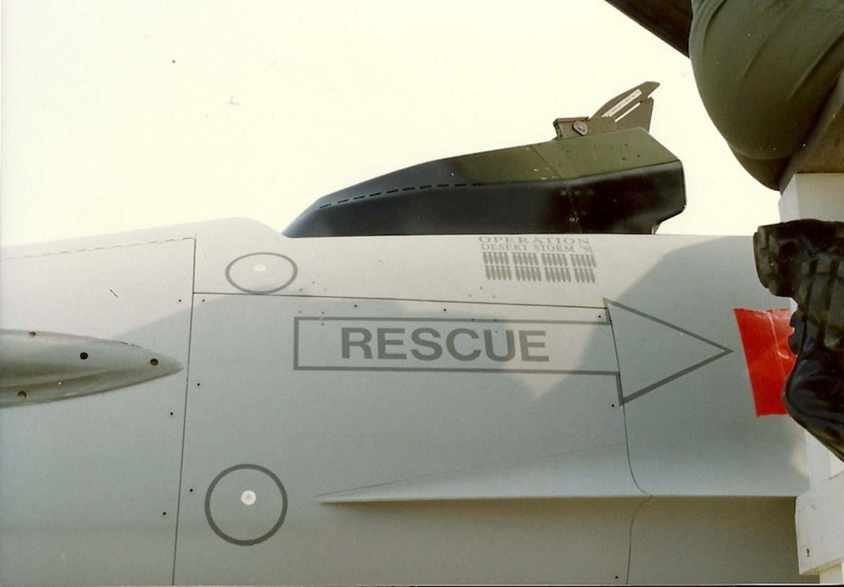 Mission Markings on an F-16 from Operations Desert Storm.