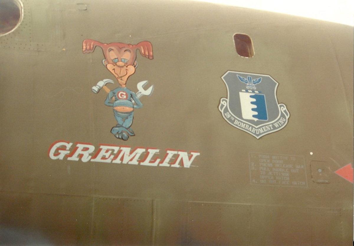 A B-1 nicknamed Gremlin