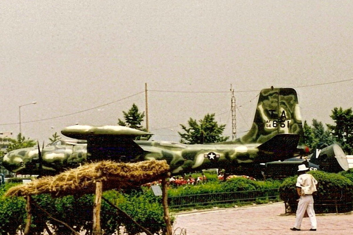 A USAF A-26 on display at Yoido Island, 1991.