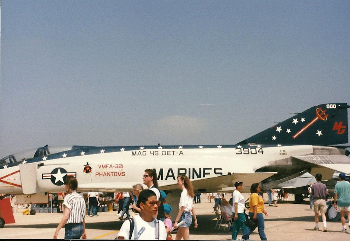 A USMC F-4