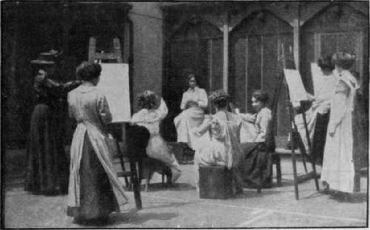 Drawing class at St John's Woods Art School.