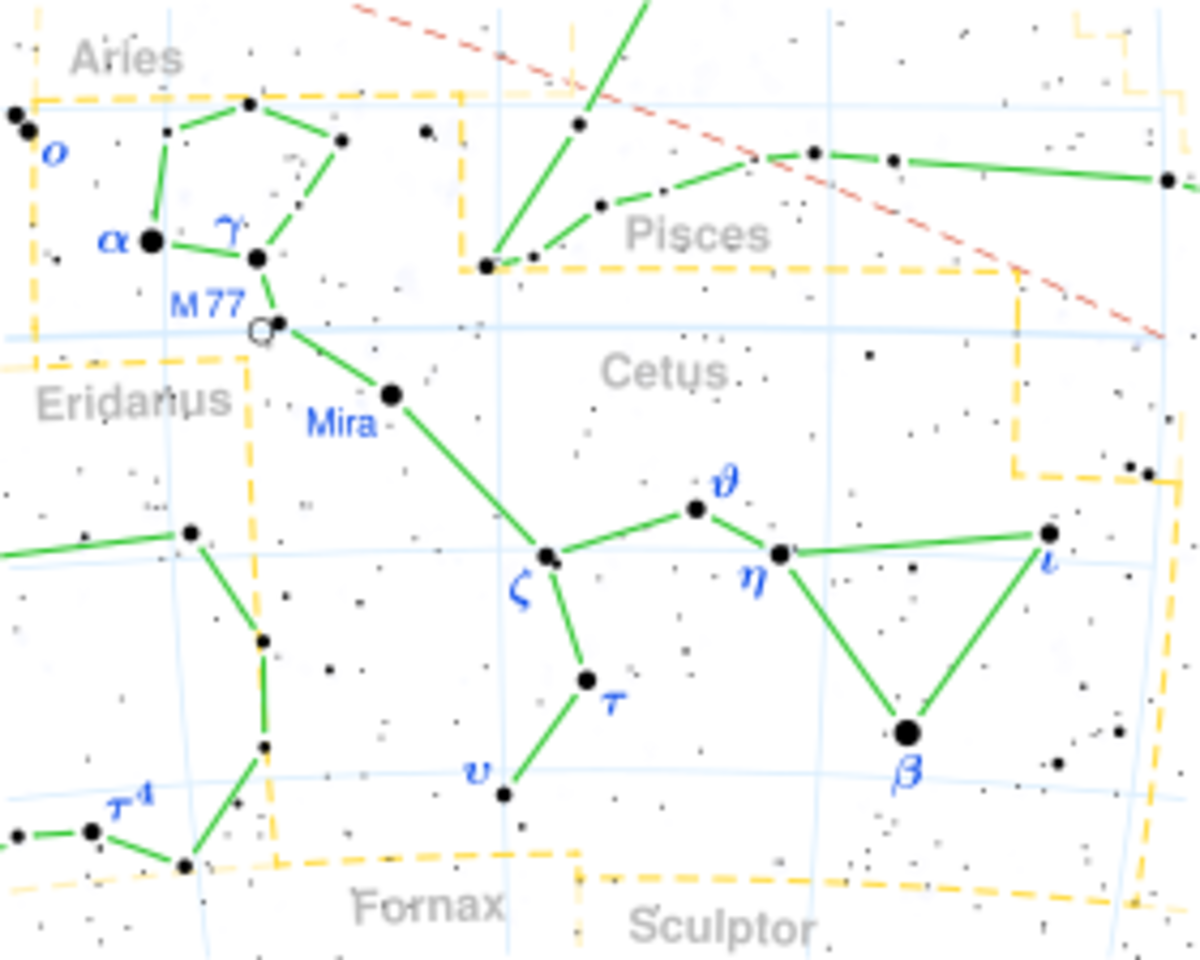 Constellation Of Cetus Showing Mira