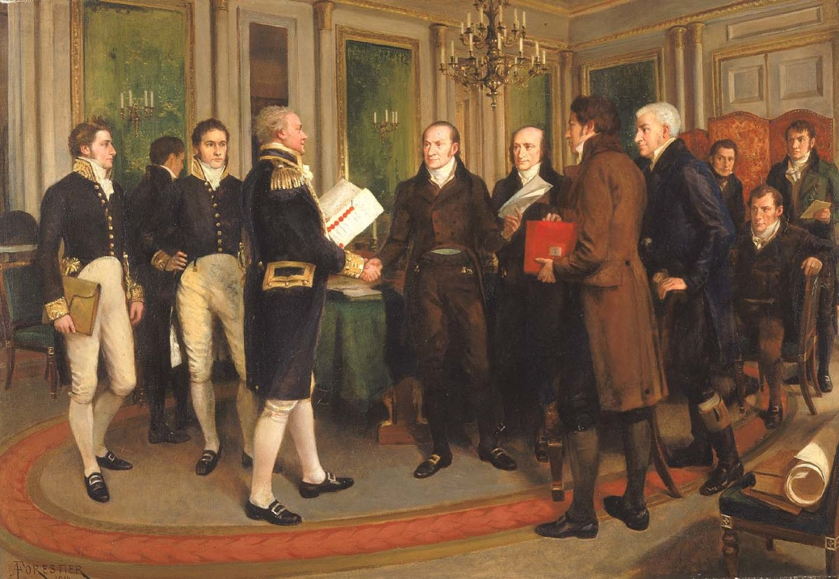 The Signing of the Treaty of Ghent, Christmas Eve, 1814.
