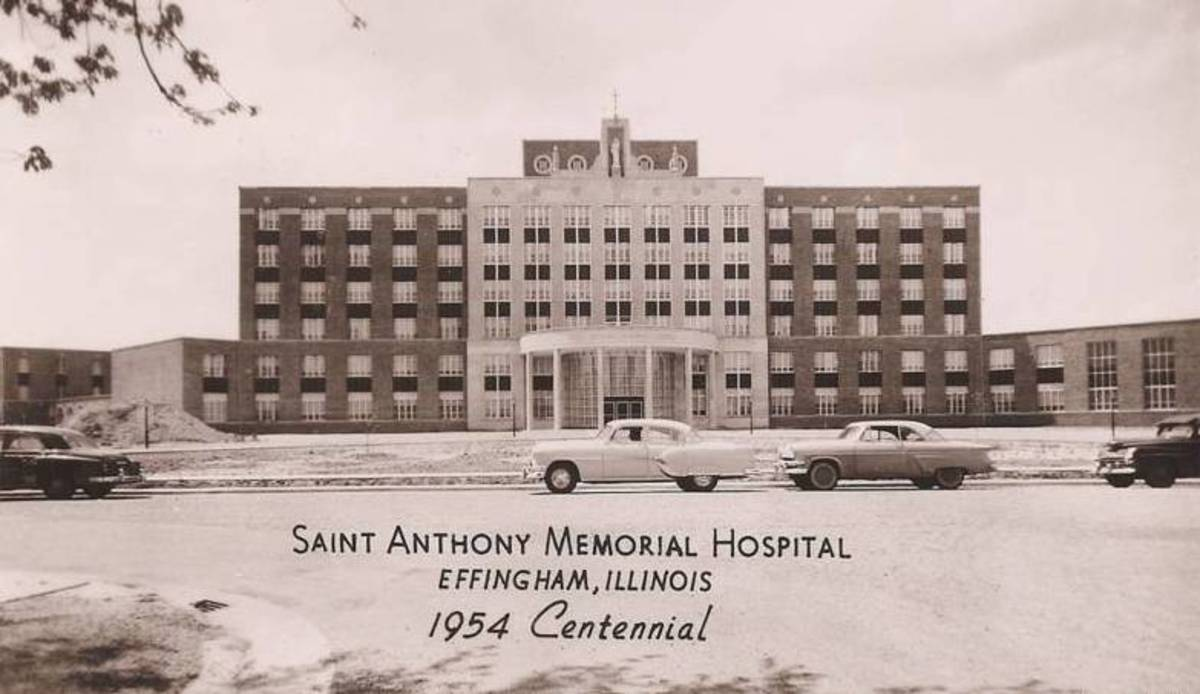 The new hospital was dedicated on the occasion of the Effingham Centennial celebration.