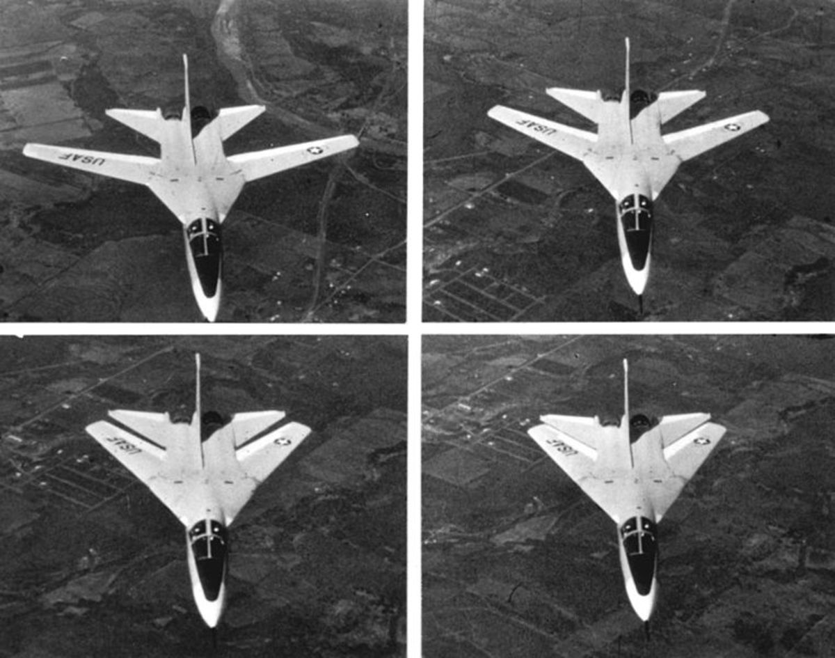 F111A with the pioneering variable sweep wings