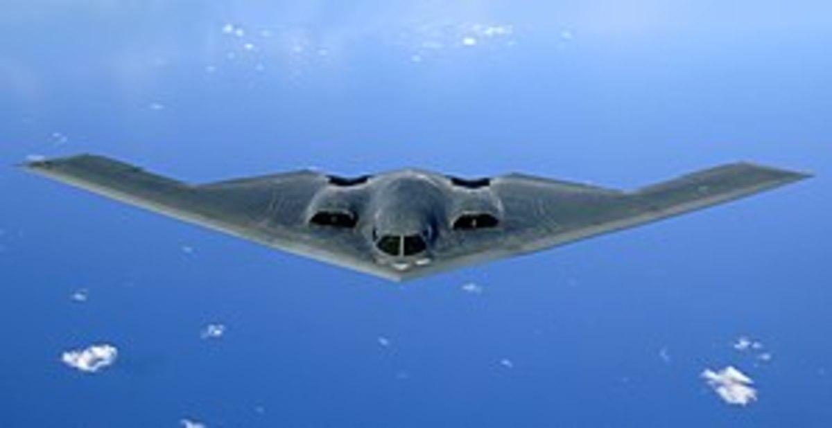 B - 2 in Flight