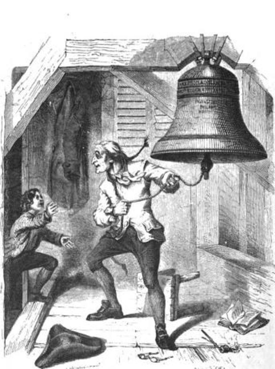 The Bellman Informed of the Passage of the Declaration of Independence: an 1854 depiction of the story of the Liberty Bell being rung on July 4, 1776. This image first appeared on the front page of Graham's Magazine June 1854.