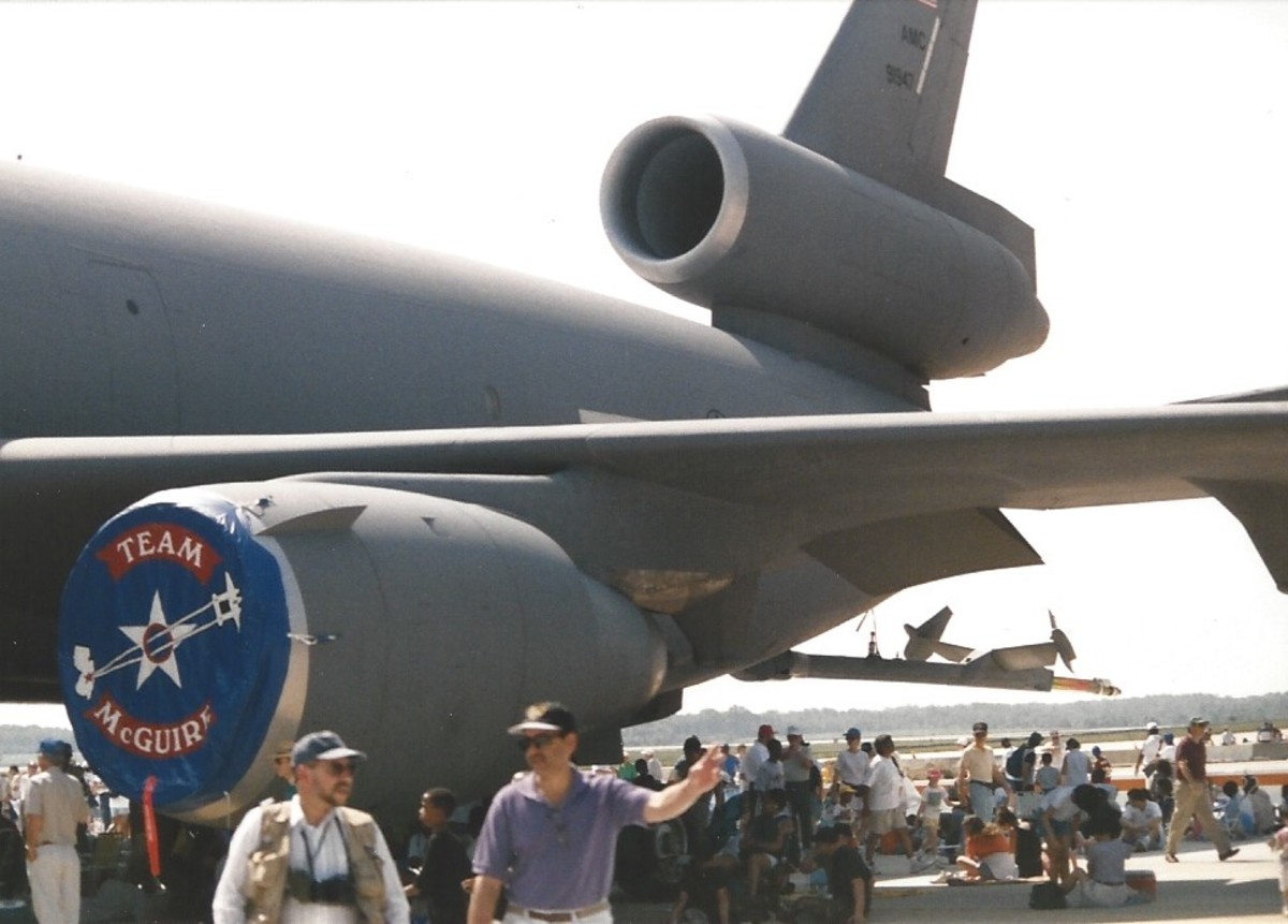 Rear fuselage of a KC-10.  Andrews AFB, May 1998.