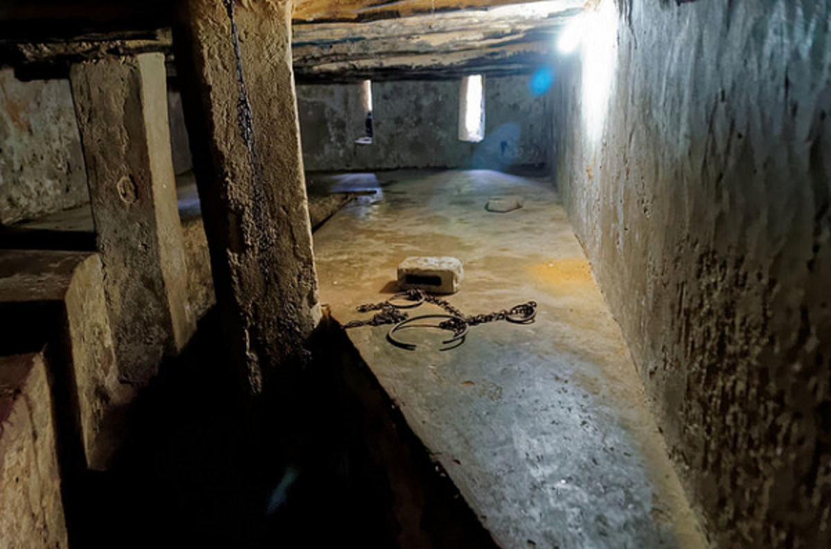 Slave chambers - The transatlantic slave trade grew in such large proportions, the captured men, women, and children were cramped into these cells pending their departure to America and Europe.
