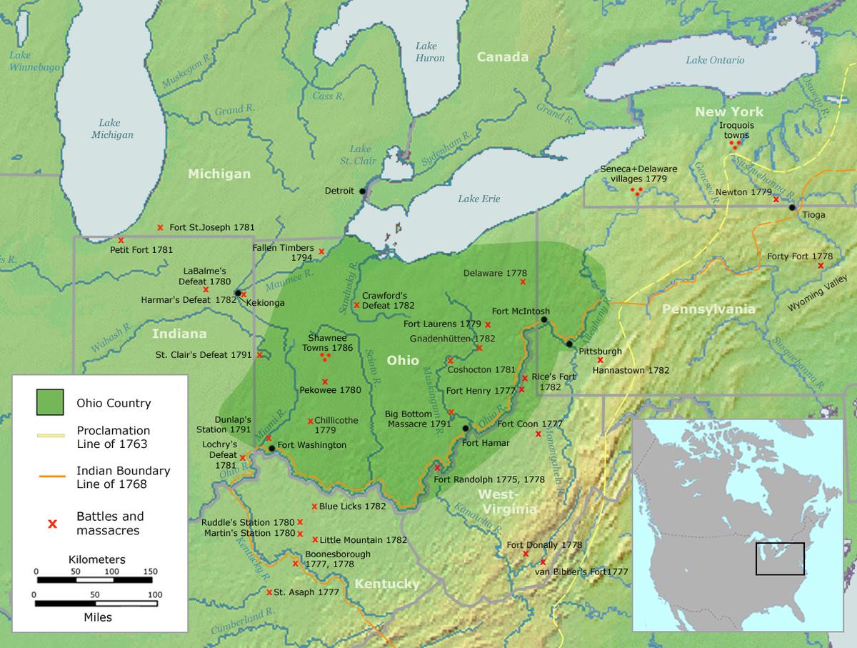 Northwest Territory circa 1800