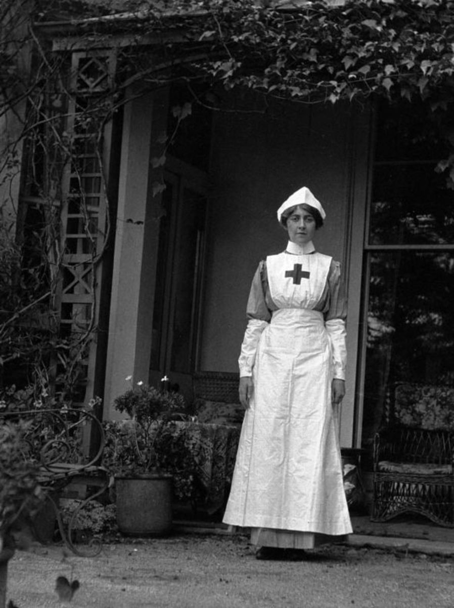 Agatha Christie as nurse during World War I