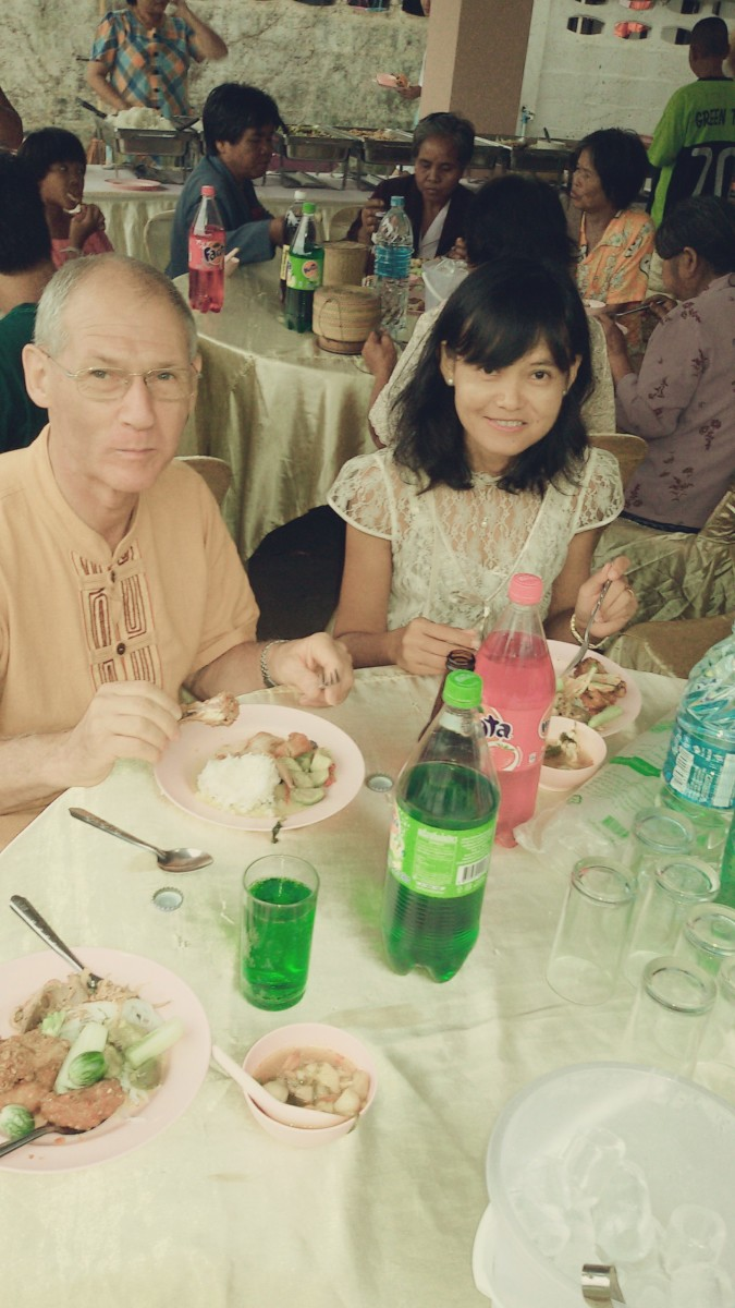 My British friend David and wife Oat at our buffet brunch