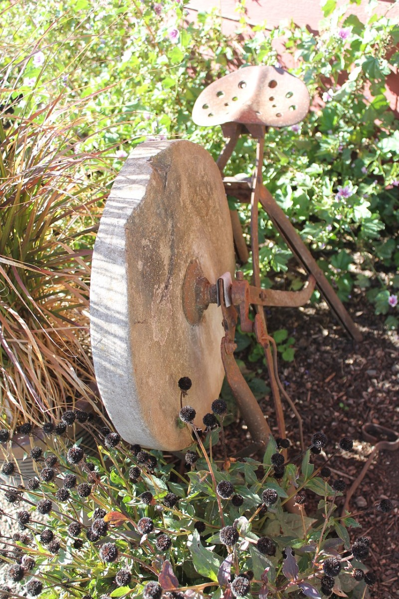 """When you use the word """"whet"""" think of a grindstone or whetstone that hones a sharp edge on a knife or tool."""
