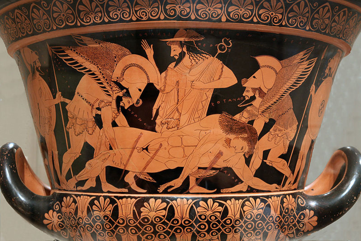 This vase is an exceptional example of the ancient master Euphronios' work.