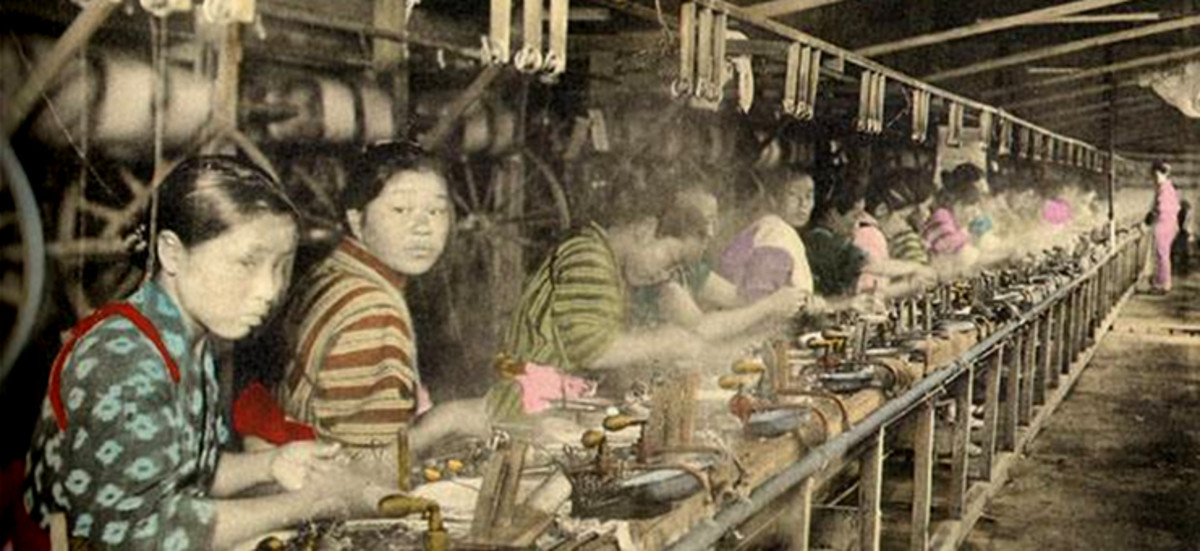 Japanese textile workers