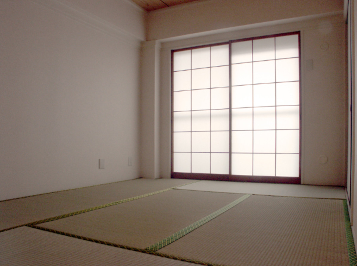 Tatami mats would have been an integral part of Sasaki's home, but were gradually replaced by Western-style accommodations over time.