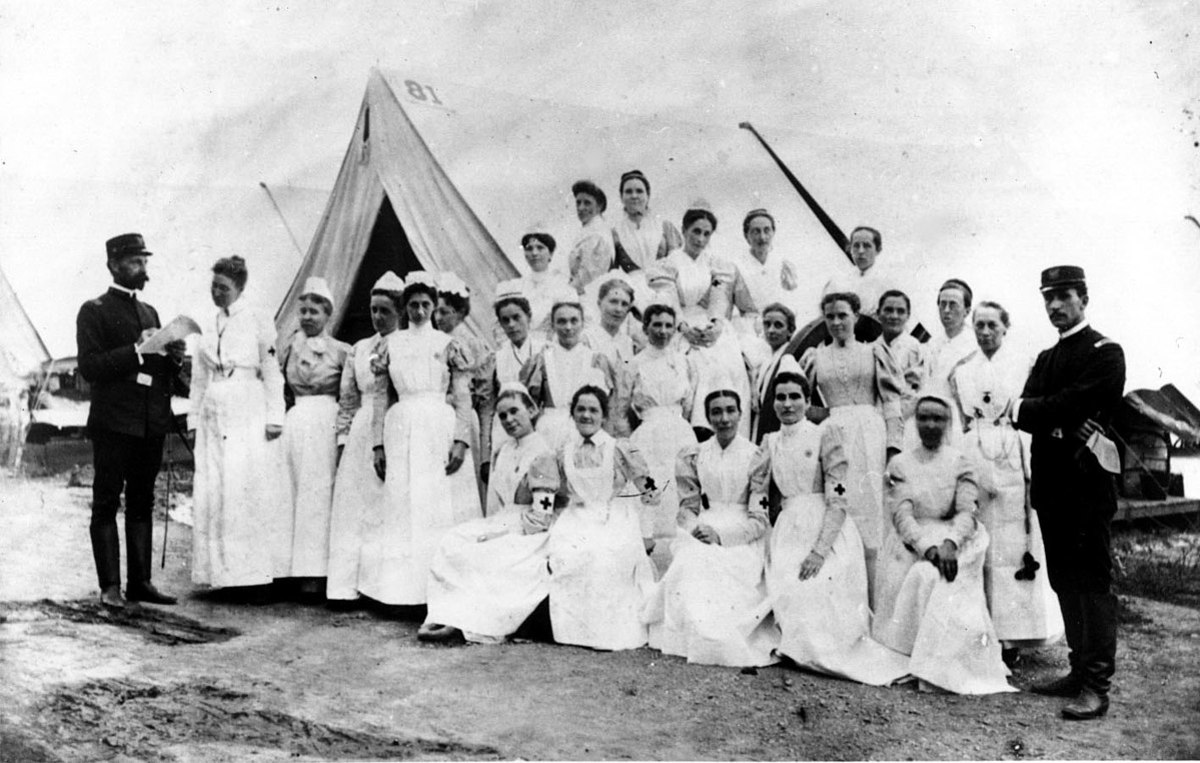 Civil War nurses in 1862; obviously, Sarah Emma is not among them.