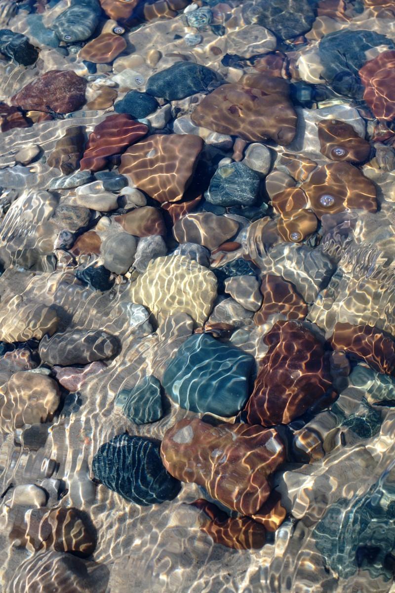 Shallows Pier Cove Beach Creek - Lake Michigan Beach Stones