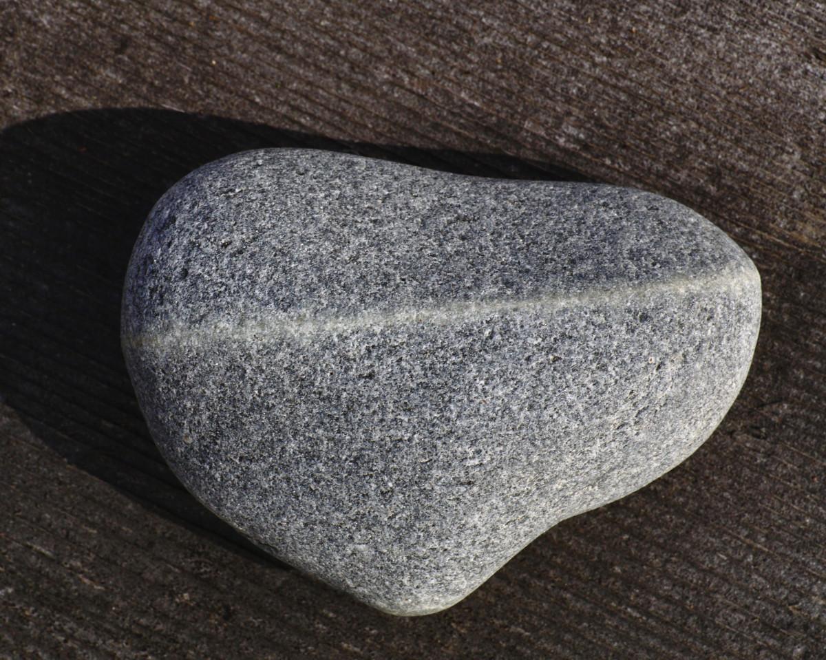Heart Wishing Stone - Lake Michigan Beach Stones