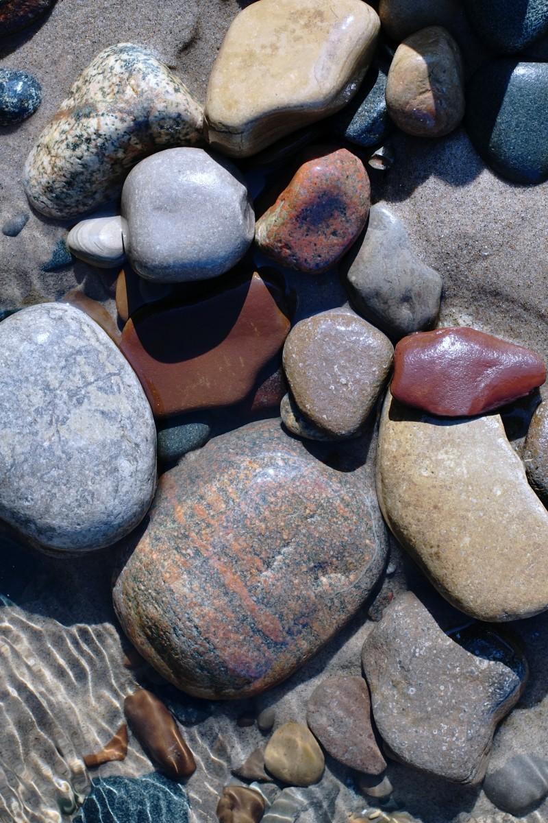 In The Shallows Pier Cove Beach - Lake Michigan Beach Stones