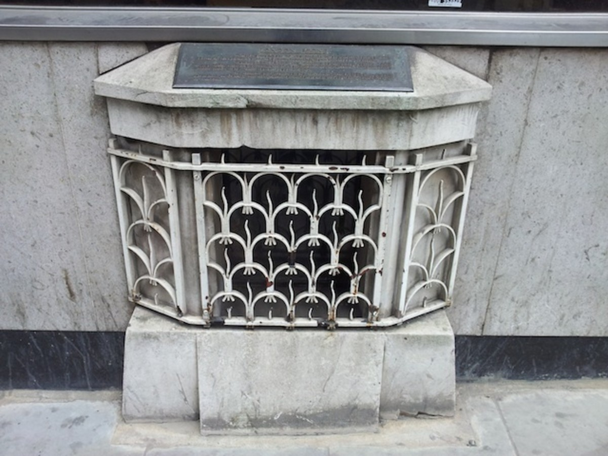 The grille behind which it lay hidden for decades