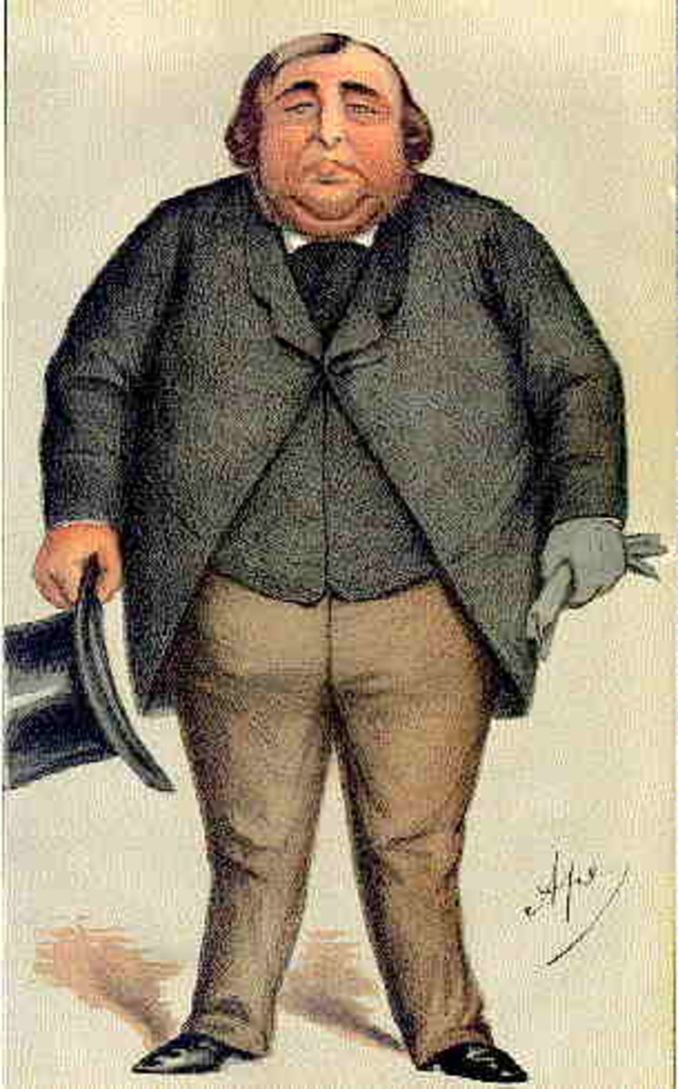 A caricature of Arthur Orton in Vanity Fair.