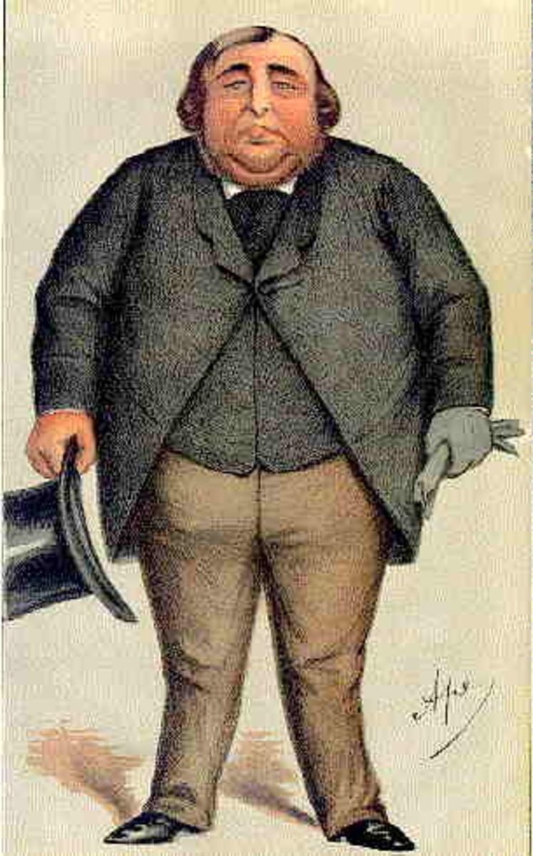 A caricature of Arthur Orton in Vanity Fair.