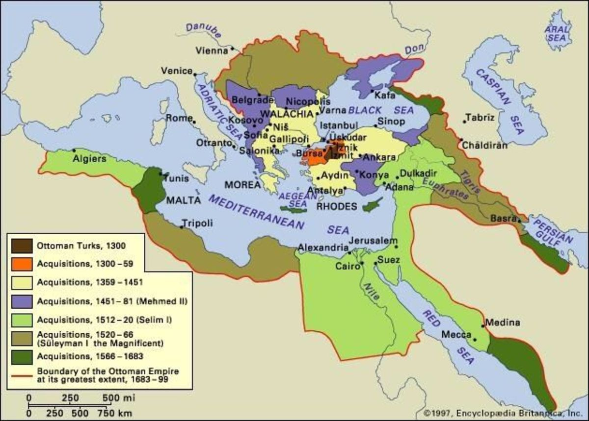 The Ottoman Empire fell greatly from its heights