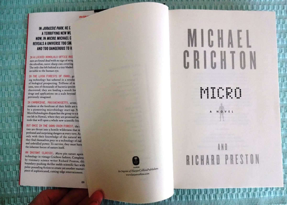 Michael Crichton is a best-selling author with thrillers like Jurassic Park and this one titled Micro.