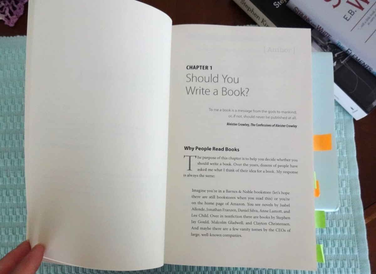 Should You Write a Book? is chapter one of the APE Book. It also covers why people read books.