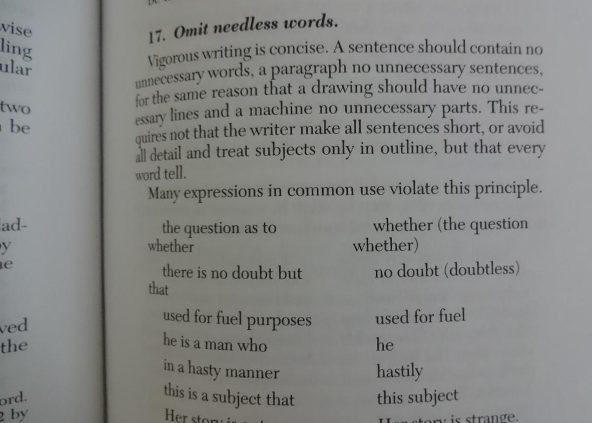 """Omit needless words."""