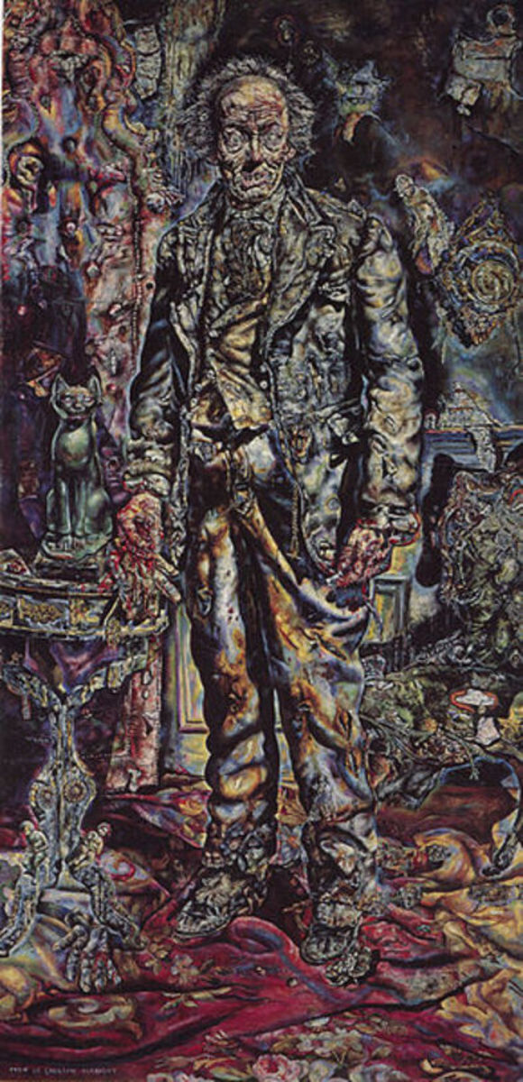 Albright's painting of Dorian Gray, from the 1945 film that starred Hurd Hatfield, George Sanders, Angela Lansbury, and Peter Lawford.