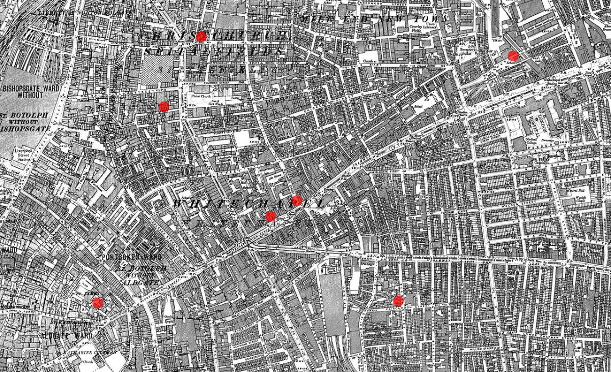 Jack-the-Ripper had numerous option getaway paths to escape
