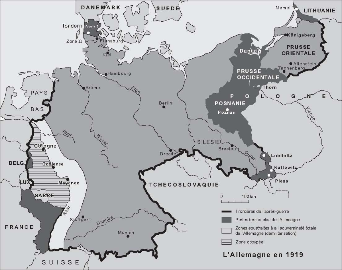 Germany's territories after 1919 still left it with significant coal and steel production, to great worry of France, and along with reparations which it was intricately bound up with it would be one of the key post-war battles.