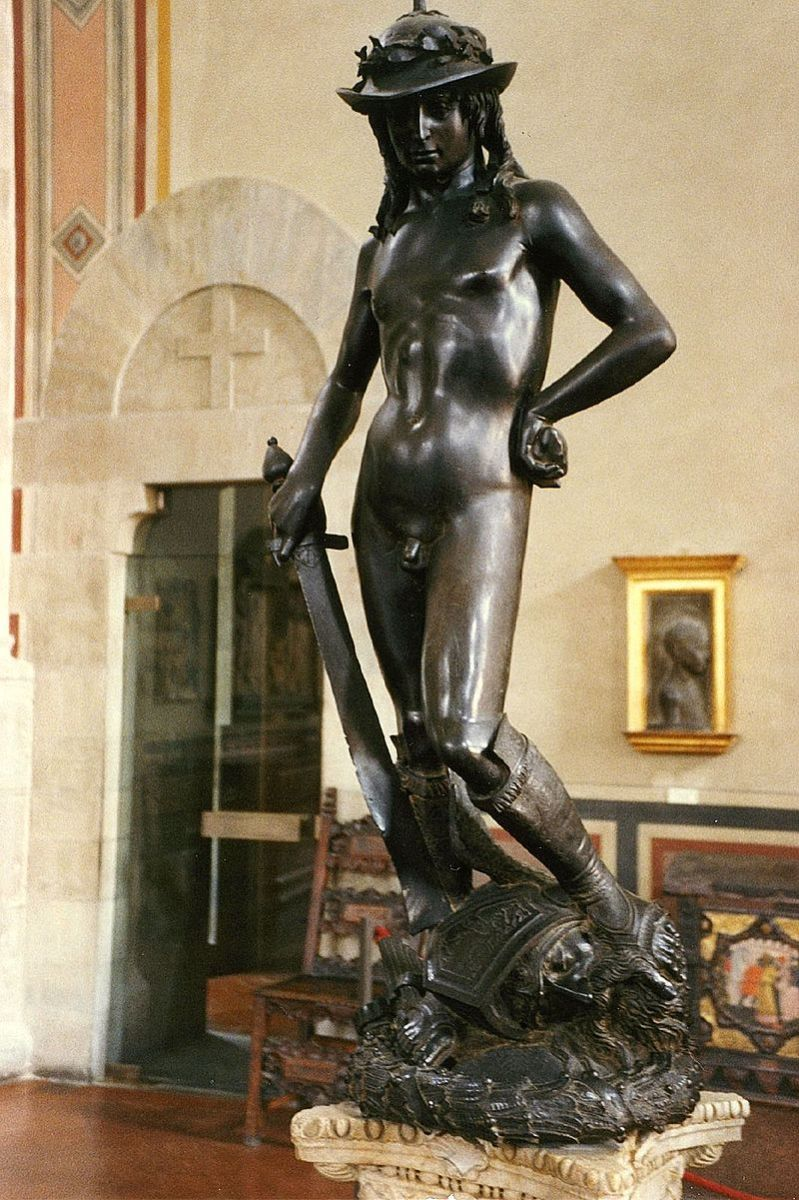 The Bronze David by Donatello (1440s)