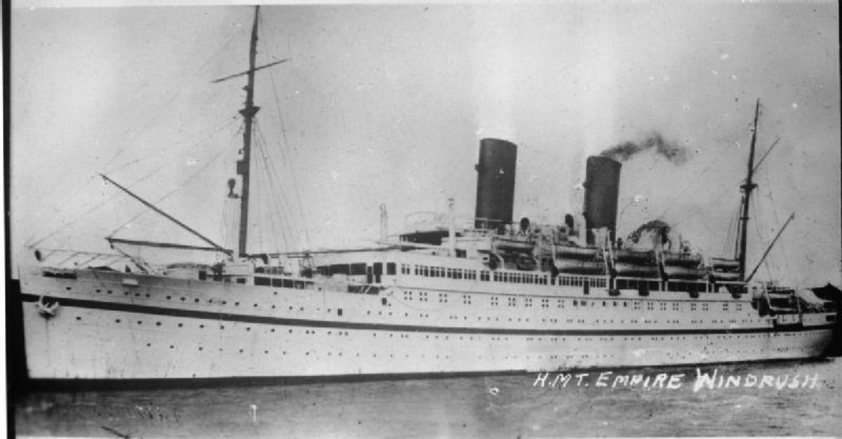 HMT Empire Windrush. In 1948, she brought to Britain one of the first large groups of West Indians, which marks the beginning of today's mass immigration.