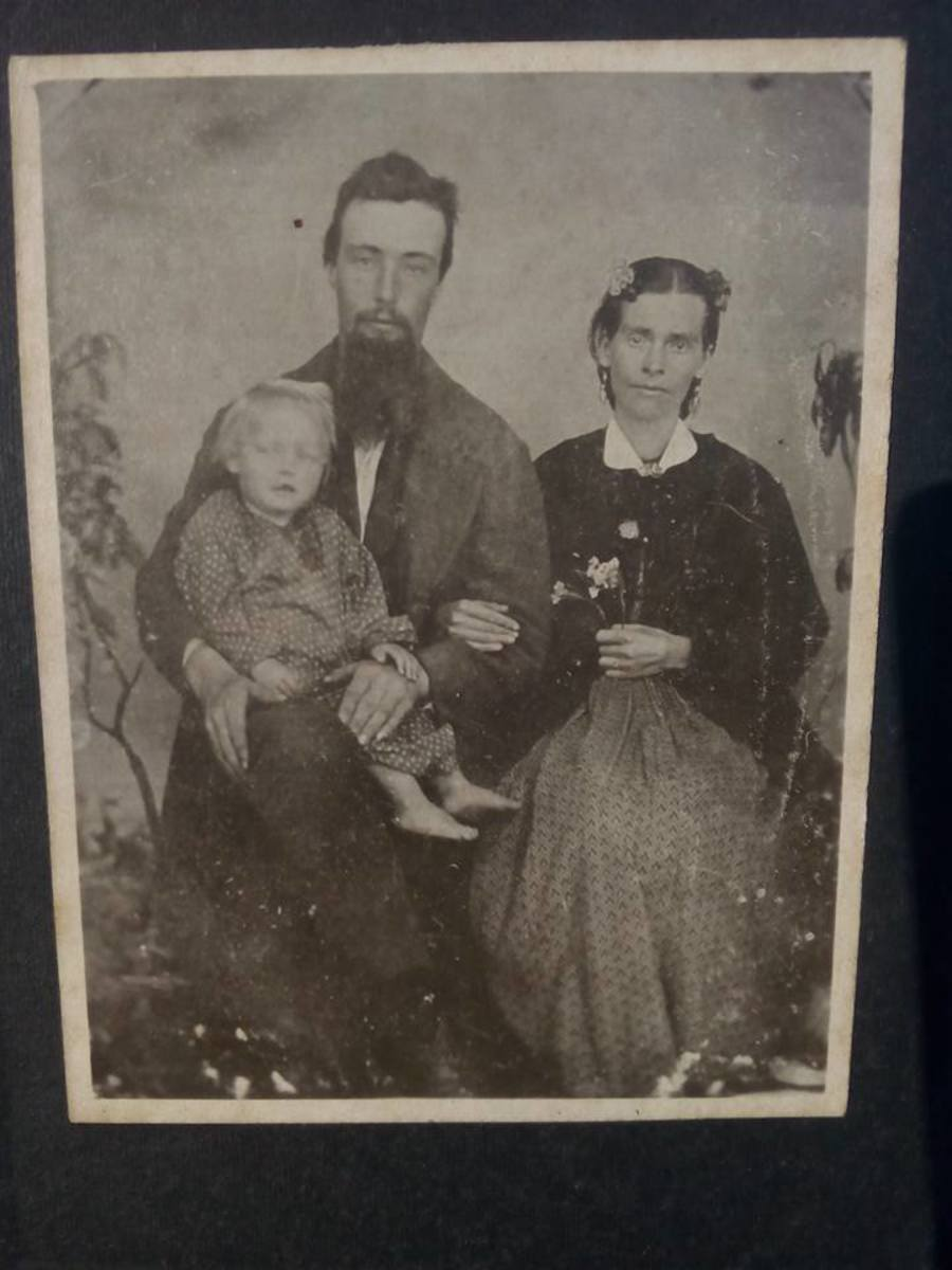 Some of the author's distant family members from the American Civil War Era