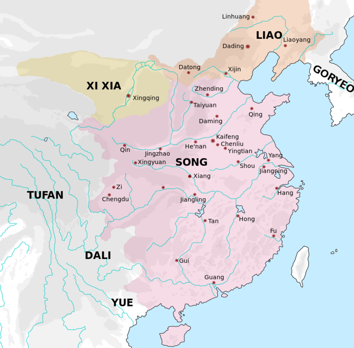 The Song state during this period, when it was in possession of Northern China. It was engaged in a long military standoff with its northern neighbors.
