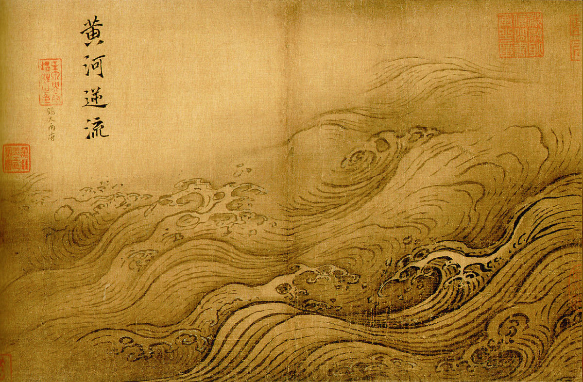 A Song era depiction of Yellow river flooding