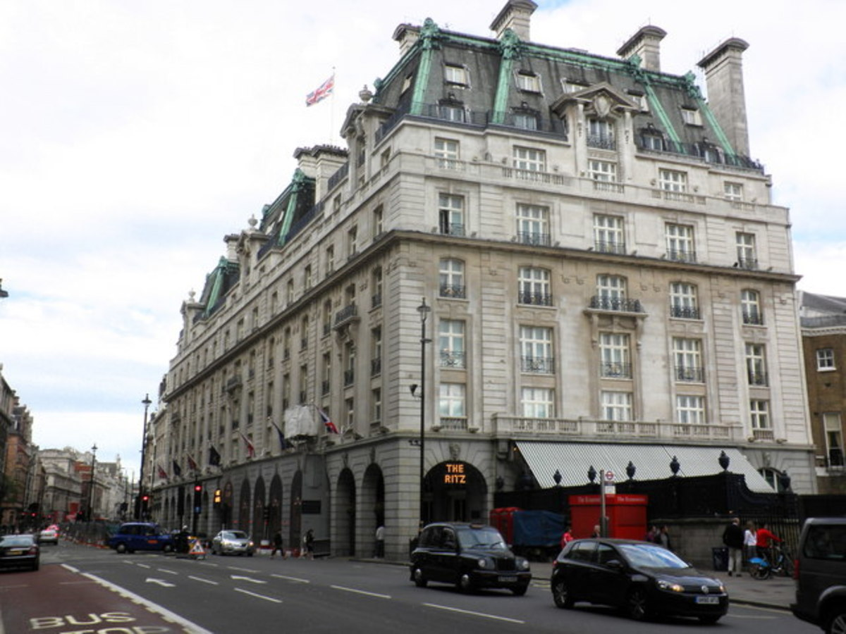 Perhaps the most famous hotel in the world. The Ritz, Piccadilly