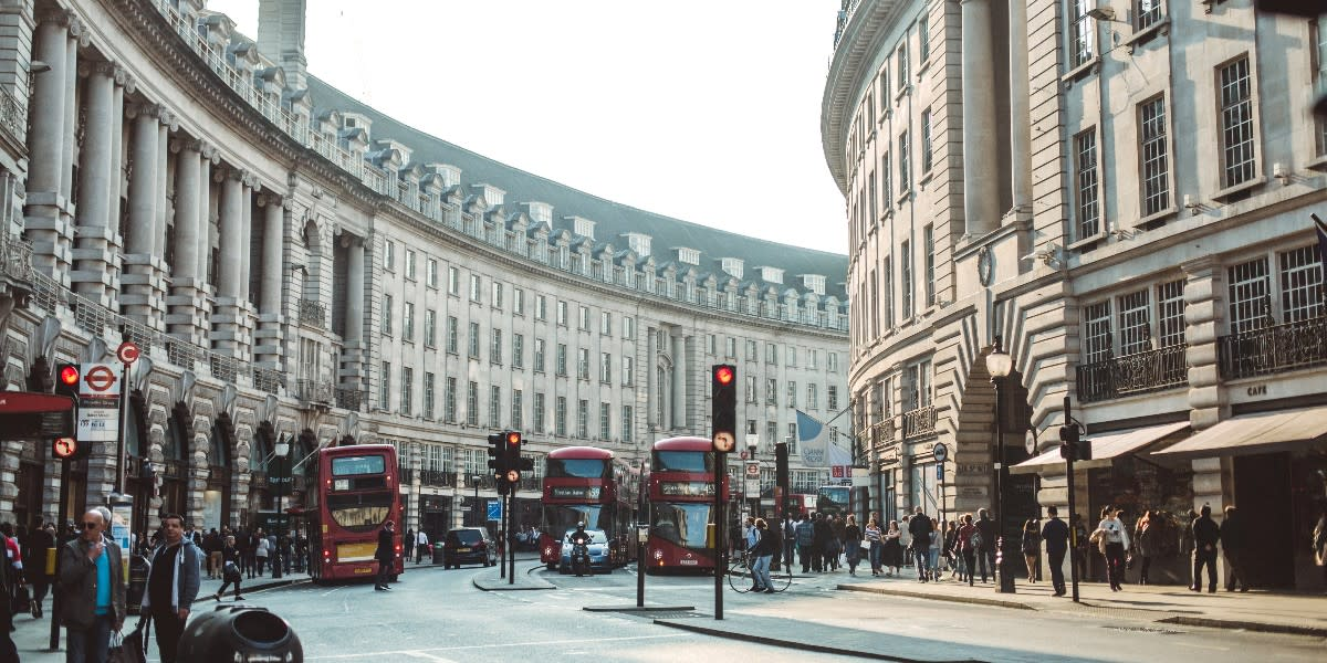 The sweeping Georgian Crescents of Regent Street