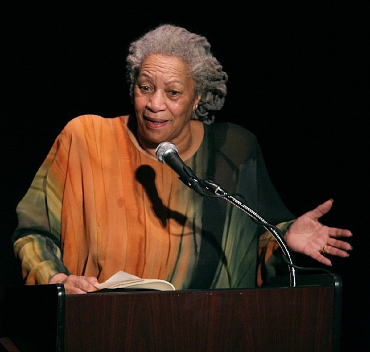 "Toni Morrison speaking at ""A Tribute to Chinua Achebe - 50 Years Anniversary of 'Things Fall Apart'"". The Town Hall, New York City, February 26th, 2008."