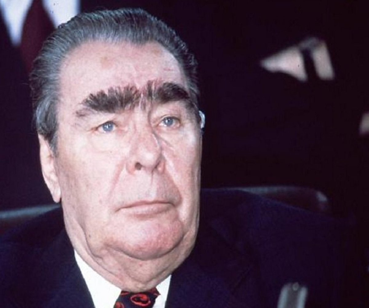 Brezhnev inherited Stalin's moustache which he wore upside-down above his eyes